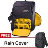 Spesifikasi Third Party Tas Kamera National Geographic Hitam Gratis Rain Cover Terbaru