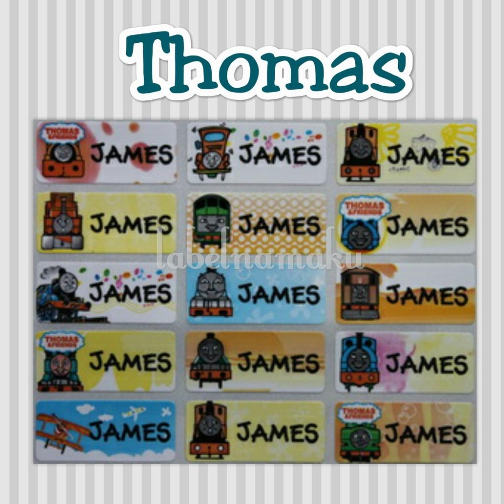 Thomas And Friends - Stiker Label Nama Waterproof - Tahan Air Ready Size S- M- L