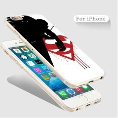 THW Transparan Soft Casing Ponsel Batman VS Superman Movie Style Case untuk Apple IPhone 6 Plus/6 S PLUS -Intl