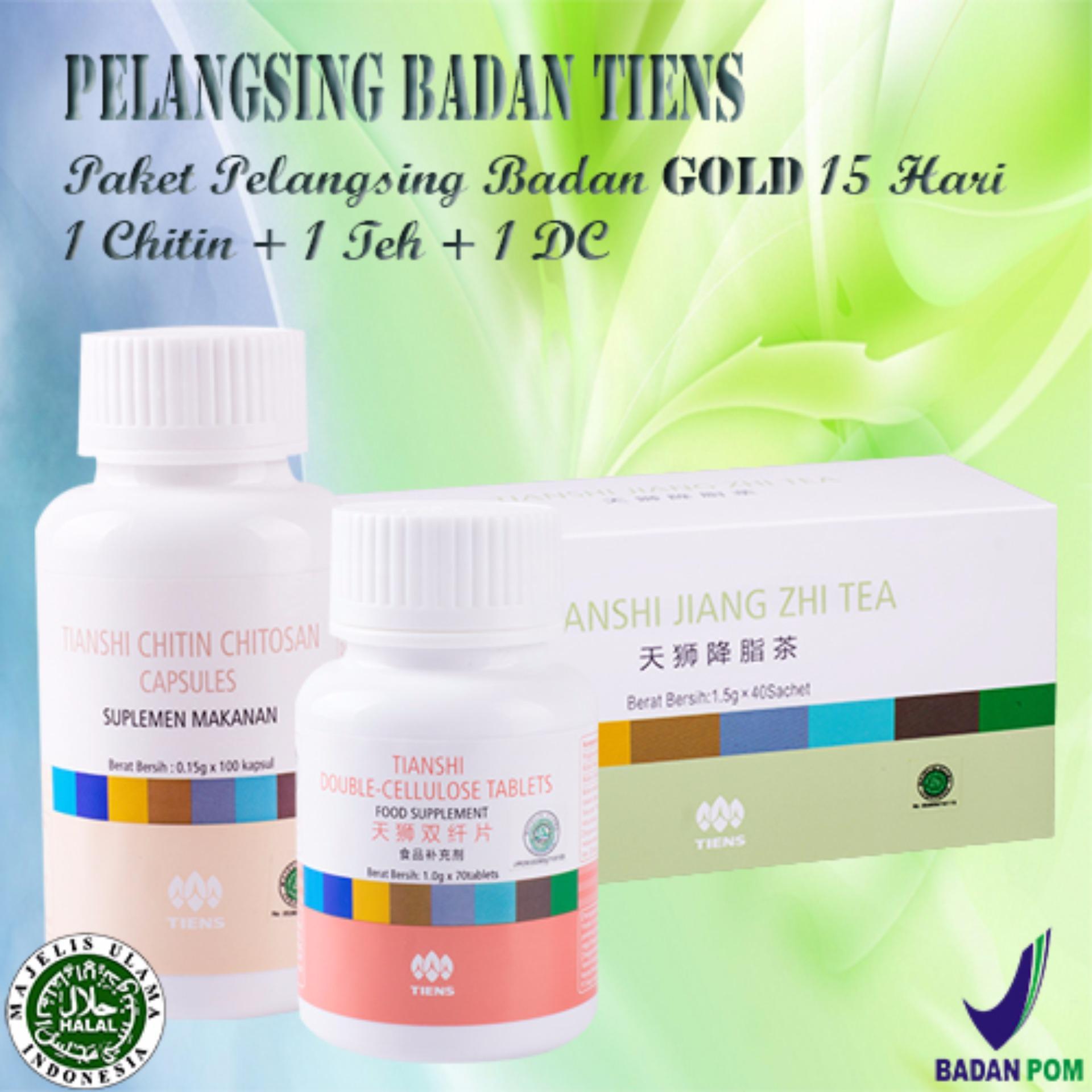 Beli Tiens Jiang Zhi Tea Double Cellulose Dan Chitin Chitosan Baru
