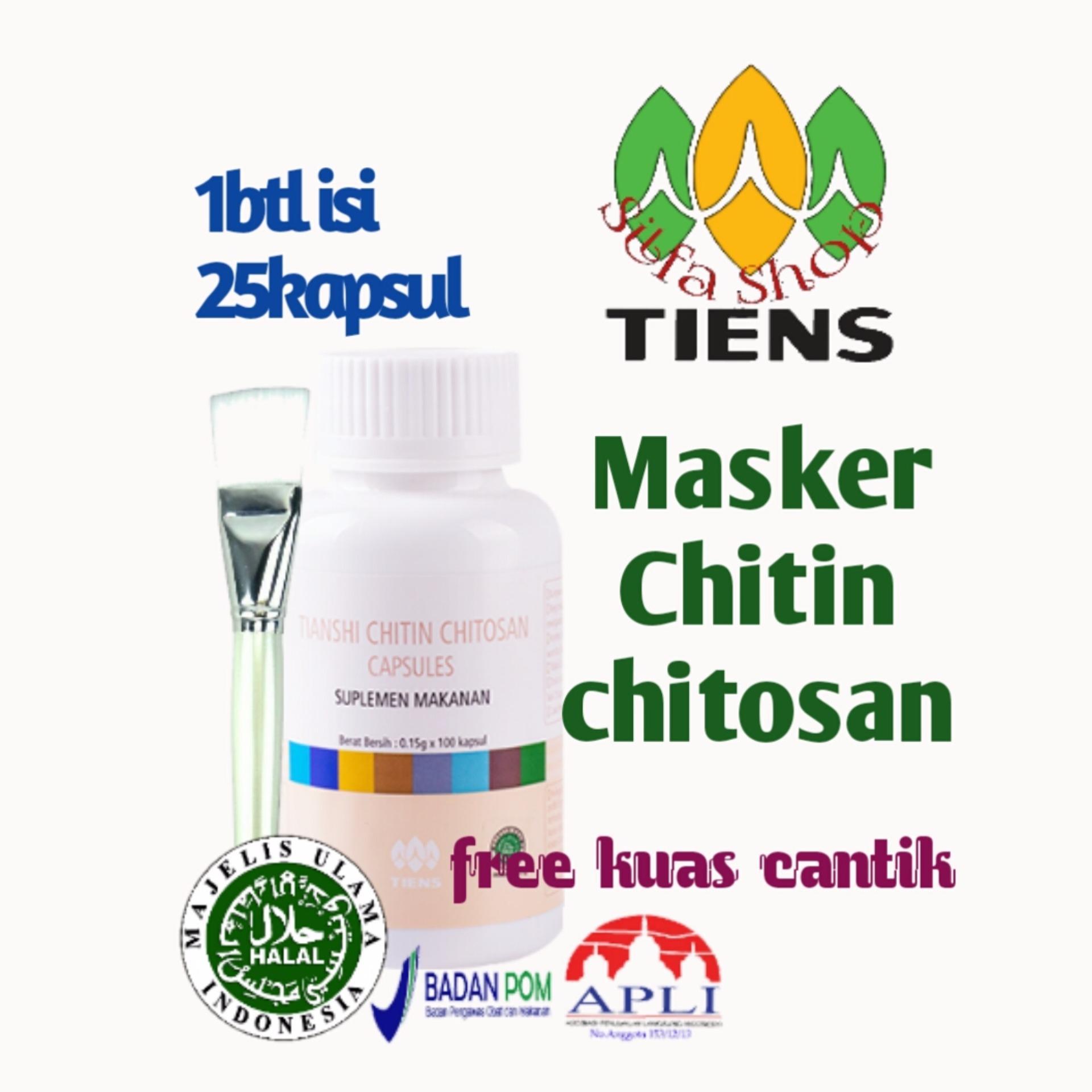 Tiens Masker Jerawat Dan Kulit Berminyak Chitin Chitosan Isi 25 Kapsul Murah