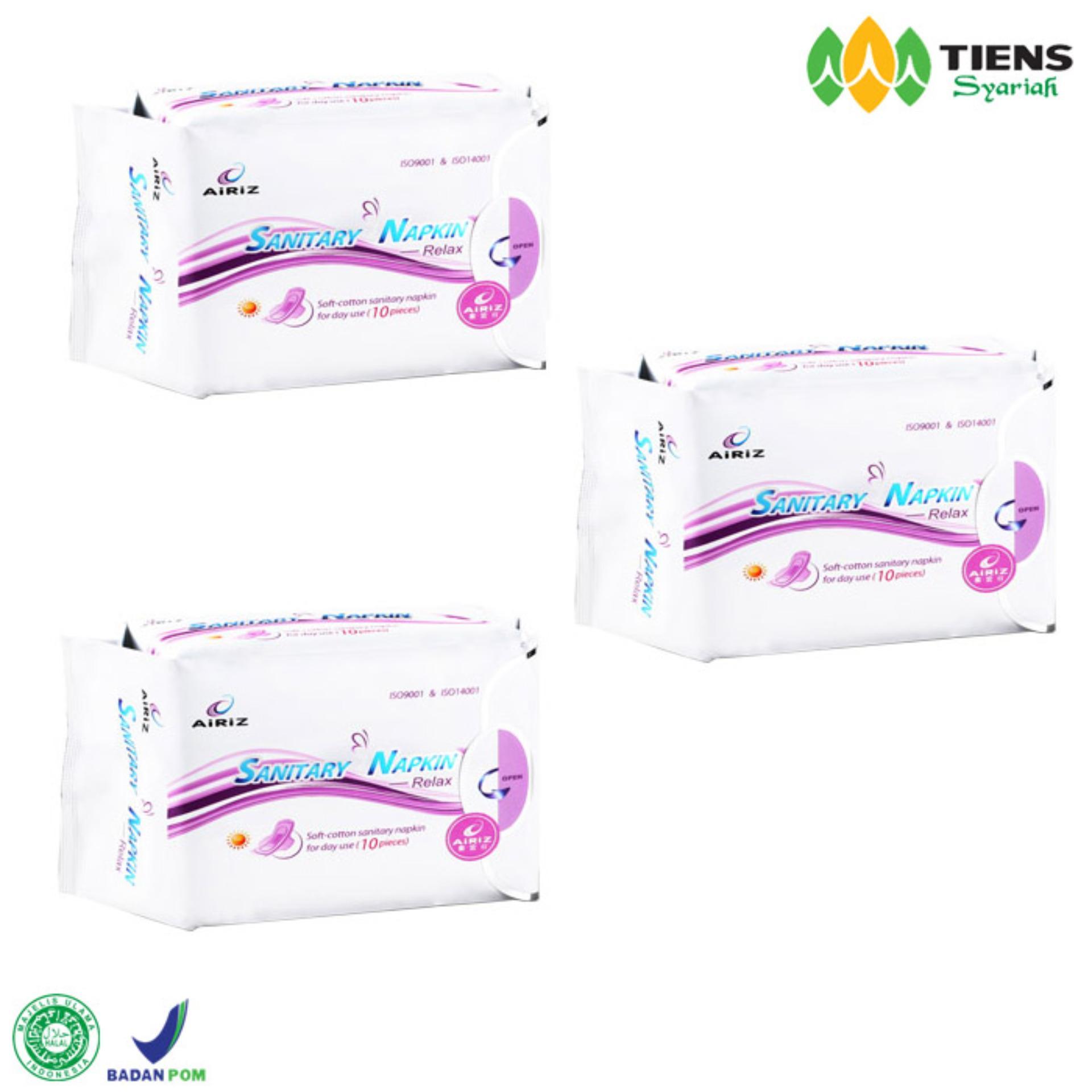Spek Tiens Pembalut Kesehatan Herbal Airiz Day Anti Kanker Serviks Bebas Klorin Kemasan 3 Box Jawa Timur