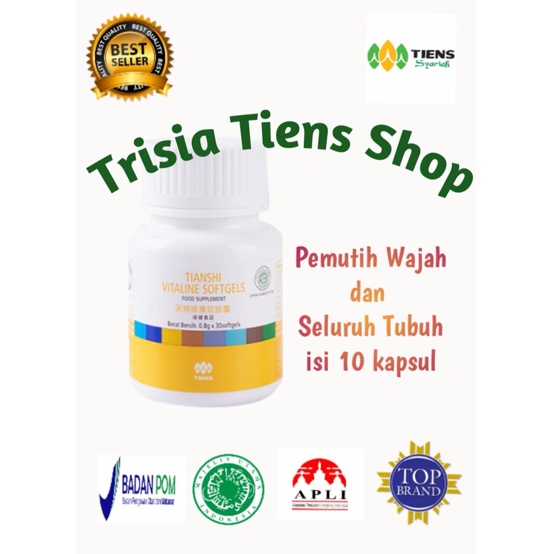 Tiens Pemutih Wajah Dan Seluruh Tubuh Vitalinel Herbal Tiens 10 Softgel Kemasan Ecer .