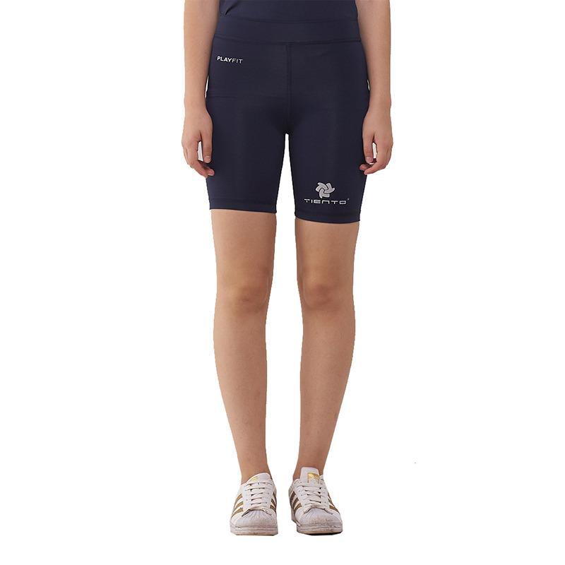 Tiento Baselayer Celana Pendek Ketat Navy Putih Leging Pants Legging Wanita dan Pria Compression Lari Senam Zumba Yoga Running Futsal Sepakbola Renang Diving Voli Sepeda Original