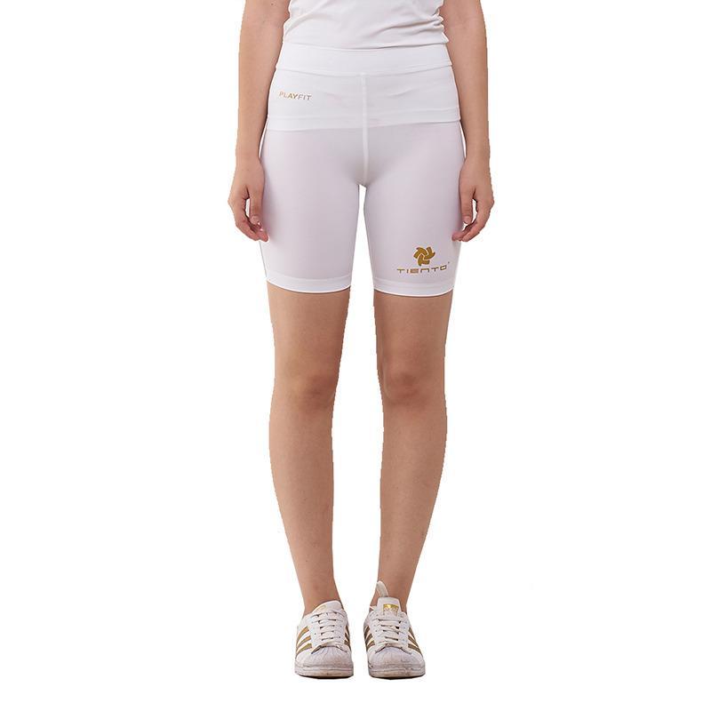 Tiento Baselayer Celana Pendek Ketat Putih Emas Leging Pants Legging Wanita dan Pria Compression Lari Senam Zumba Yoga Running Futsal Sepakbola Renang Diving Voli Sepeda Original