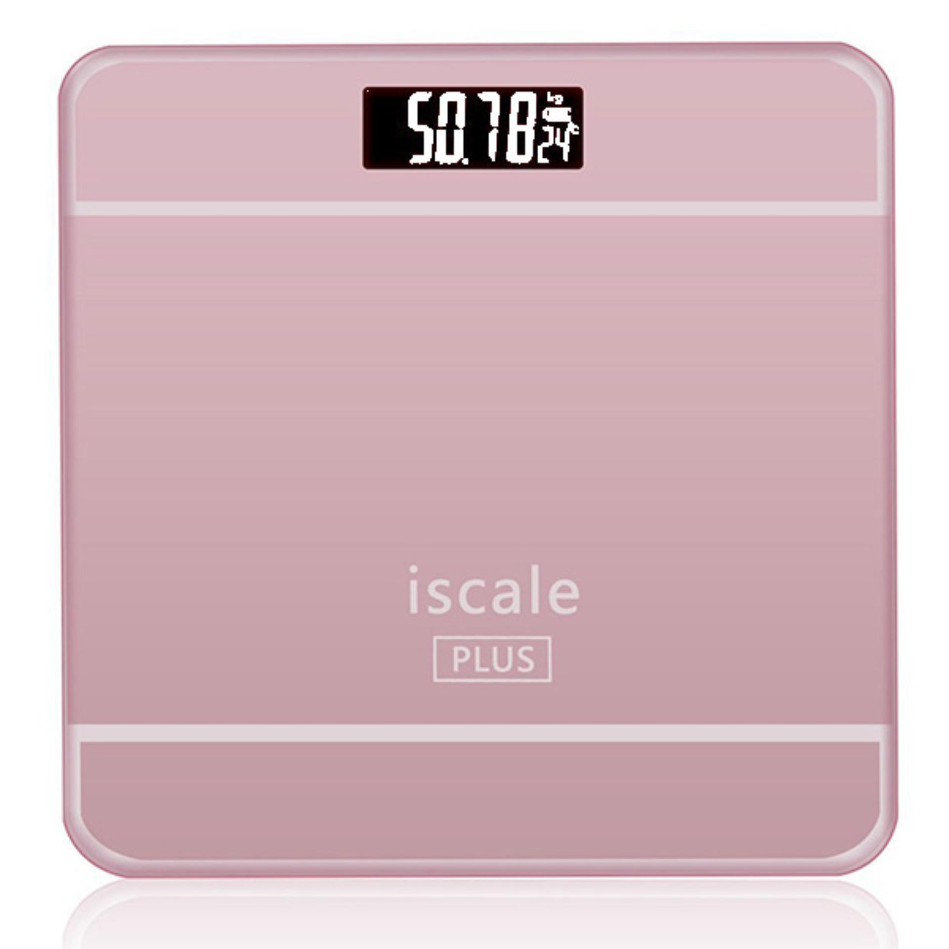 Beli Timbangan Badan Digital With Temperature Indicator Iscale Plus Pink Oem Asli