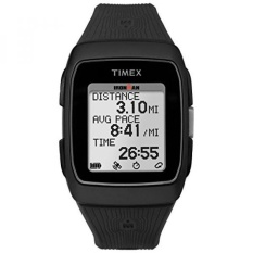 Timex Unisex TW5M11700 Ironman GPS Black Silicone Strap Watch-Intl