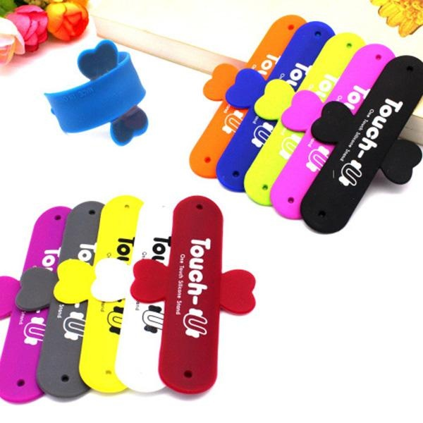 TINGGI TECH Touch U Magic Sticker Silicone Phone Stand Holder Butterfly Wing Universal Untuk-Intl