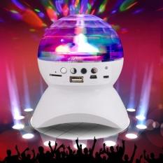 Tinpsy Pesta/Disco DJ Bluetooth Speaker dengan Built-In Light Show, Stage Studio Efek Pencahayaan, RGB Berubah Warna, LED Crystal Ball Auto Rotating, dengan Musik Player untuk TF Kartu, Hitam-Intl