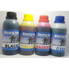 Tinta Canon Isi Ulang 250ml Verry Ink 1 Set 4 Warna (Bonus Suntikan + Jarum)