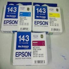 Beli Tinta Epson T143 Color Cyan Magenta Yellow Forwf7011 Wf7511 Wf3521 Multi Murah