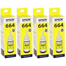 Tinta Epson T6644 Yellow - 4 botol