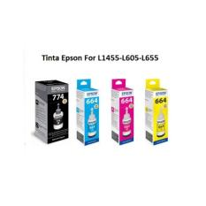 Tinta Epson T774 Black dan T664 Cyan Magenta Yellow Original Ink Bottle