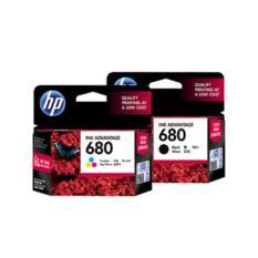 Tinta HP 680 Black + Colour Original Ink Cartridge - For 2135, 3635