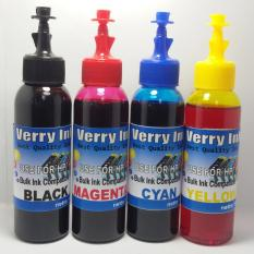 Tinta Hp Isi Ulang 100ml Verry Ink 1 Set 4 Warna