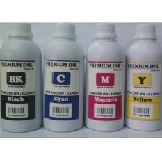 TINTA ISI ULANG / REFILL PRINTER CANON 500 ML ( PAKET 4 WARNA )