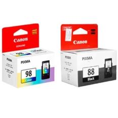 Jual Tinta Printer Cartridge Canonpg88 Black And Cl98 Colour Canon Ori