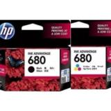 Harga Tinta Printer Hp 680 Black Color 1 Set Asli