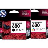 Tinta Printer Hp 680 Black Colour Original Paket Bp008 Asli