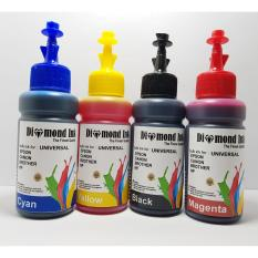 Tinta Universal Canon,Epson,Brother,Hp Isi Ulang Diamond Ink (1 Set 4 Warna)