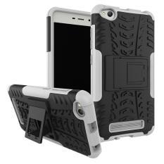 Ban Tekstur Hibrida Pelindung Lapis Baja Kuat 2in1 TPU + PC Lapisan Ganda Kasar Shockproof Pelindung Cover untuk Xiaomi Redmi 4A + Dudukan- internasional