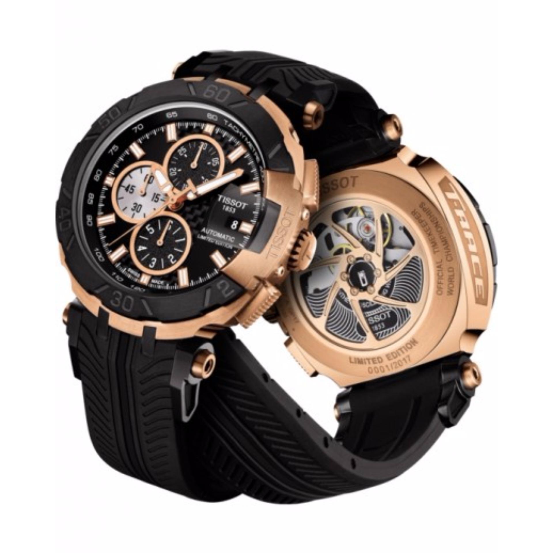 Beli Tissot T092 427 27 051 00 T Race Motogp 2017 Limited Edition Chronograph Tachymeter Jam Tangan Pria Bahan Tali Silikon Hitam Dengan Kartu Kredit