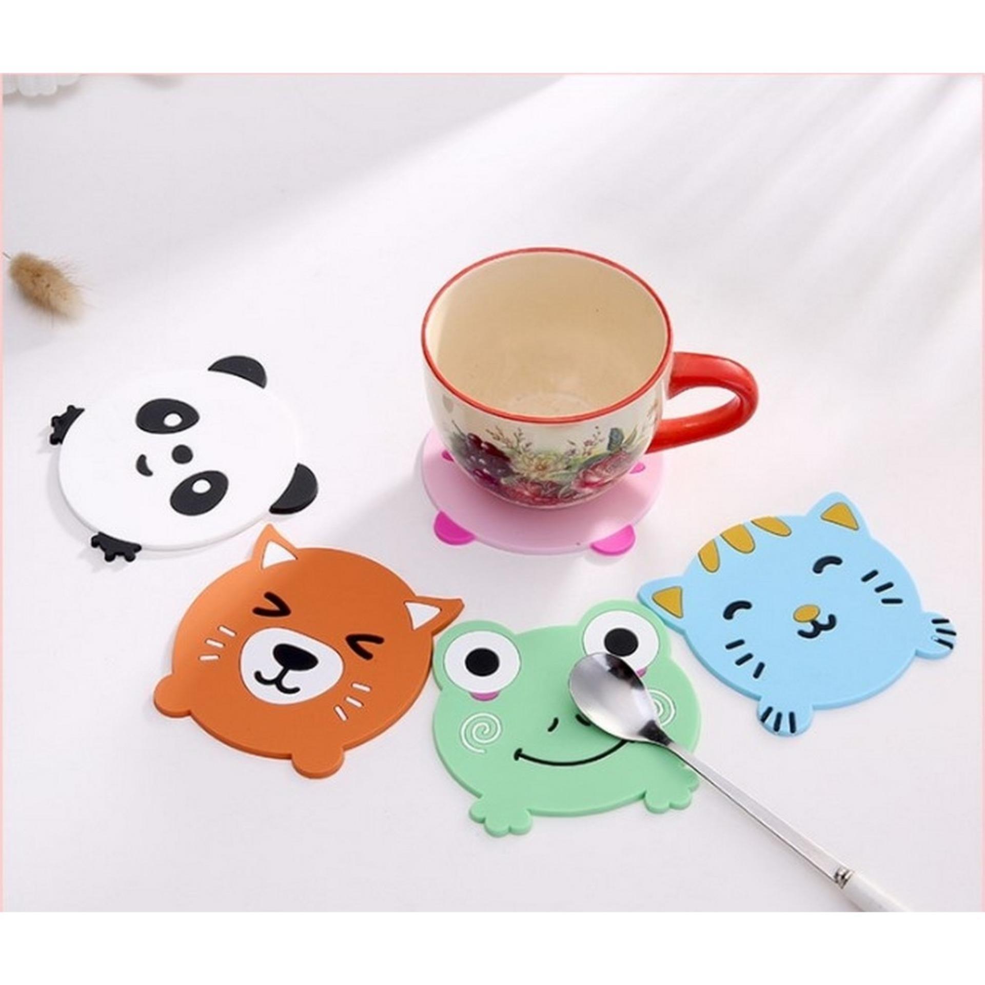 TOKO49 - Tatakan gelas alas mug cup pad motif binatang lucu souvenir