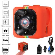 Tokuniku SQ11 Mini Action Spy Camera 1080P HD DVR Night Vision - Merah