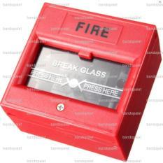 Tombol Saklar Darurat Kebakaran Kotak Box Emergency Break Glass Fire Alarm Switch Control Tempel Dinding