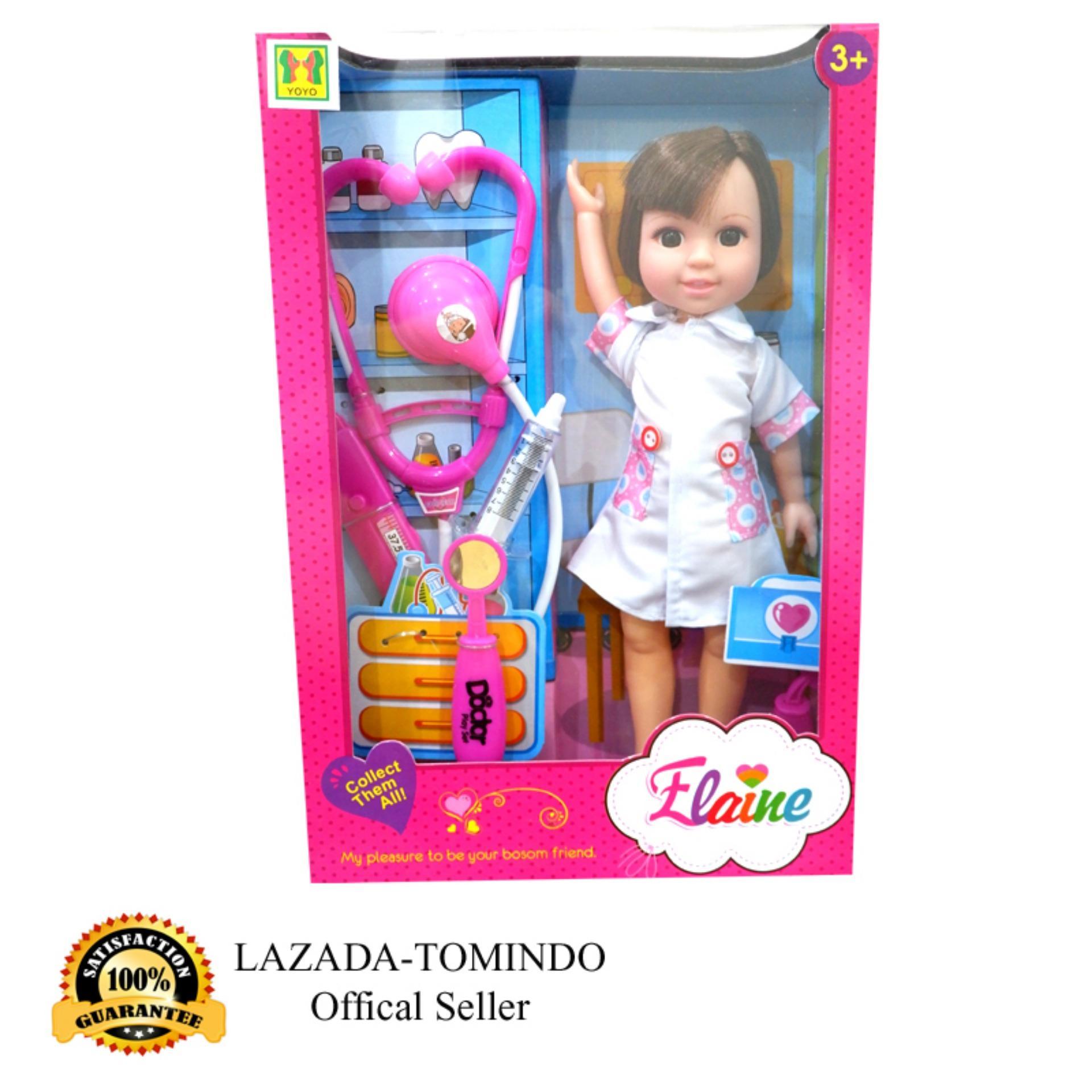 Tomindo Toys Elaine Doctor Doll / Boneka Dokter Baju Lis PINK - 89008