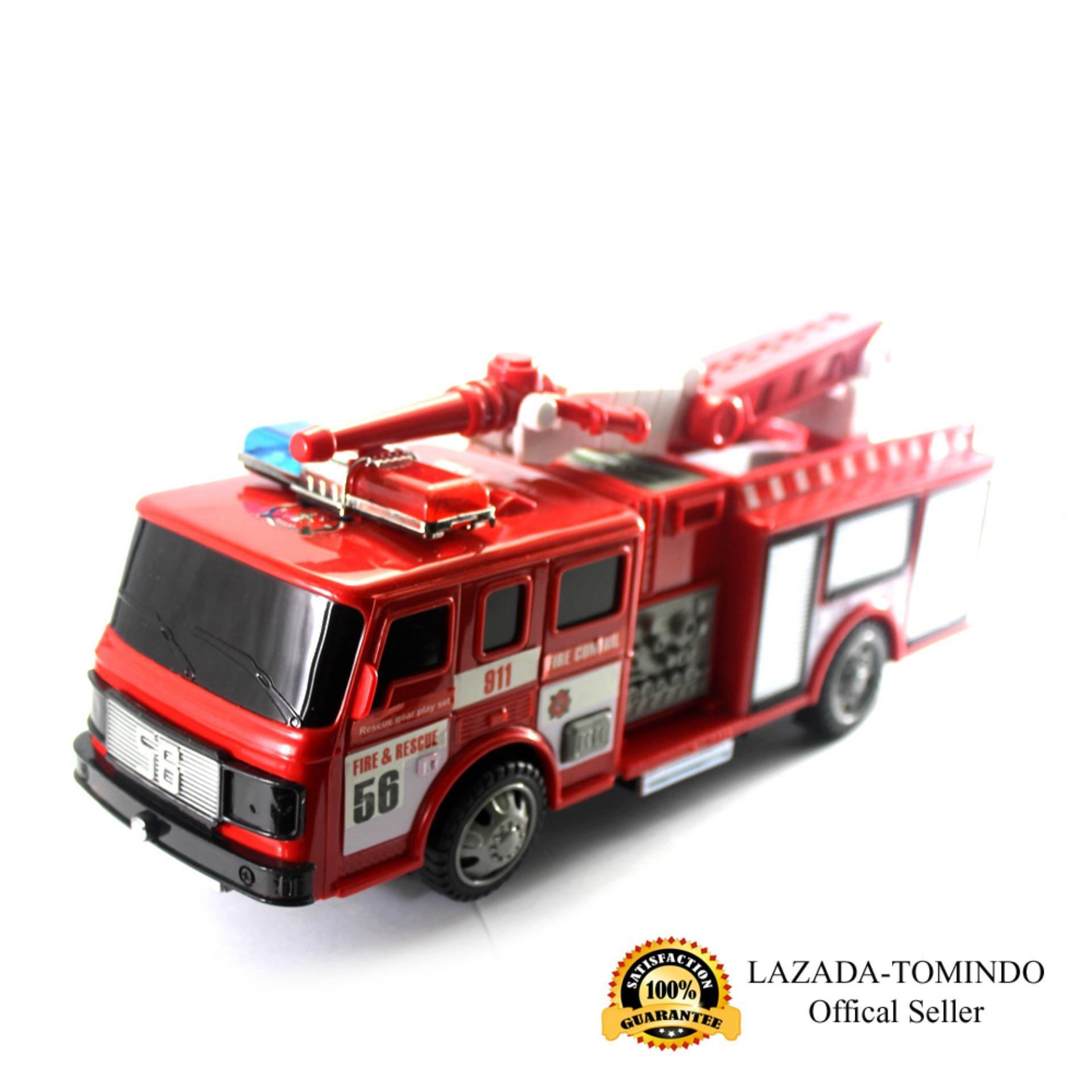 Tomindo Toys Mainan Anak Fire Rescue Car / Mobil Mobilan Pemadam SD024D