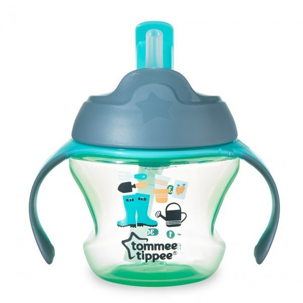 Beli Tommee Tippee Training 1St Straw Cup For Baby 9M Green Farmer Tommee Tippee