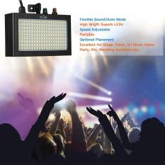 Tomshine 180 LED Strobe Flash Light Lamp Portable Auto Menjalankan Kontrol Suara Diaktifkan Speed Adjustable untuk Panggung Disco DJ Tampilkan Home Party KTV Fungsi Pernikahan-Intl