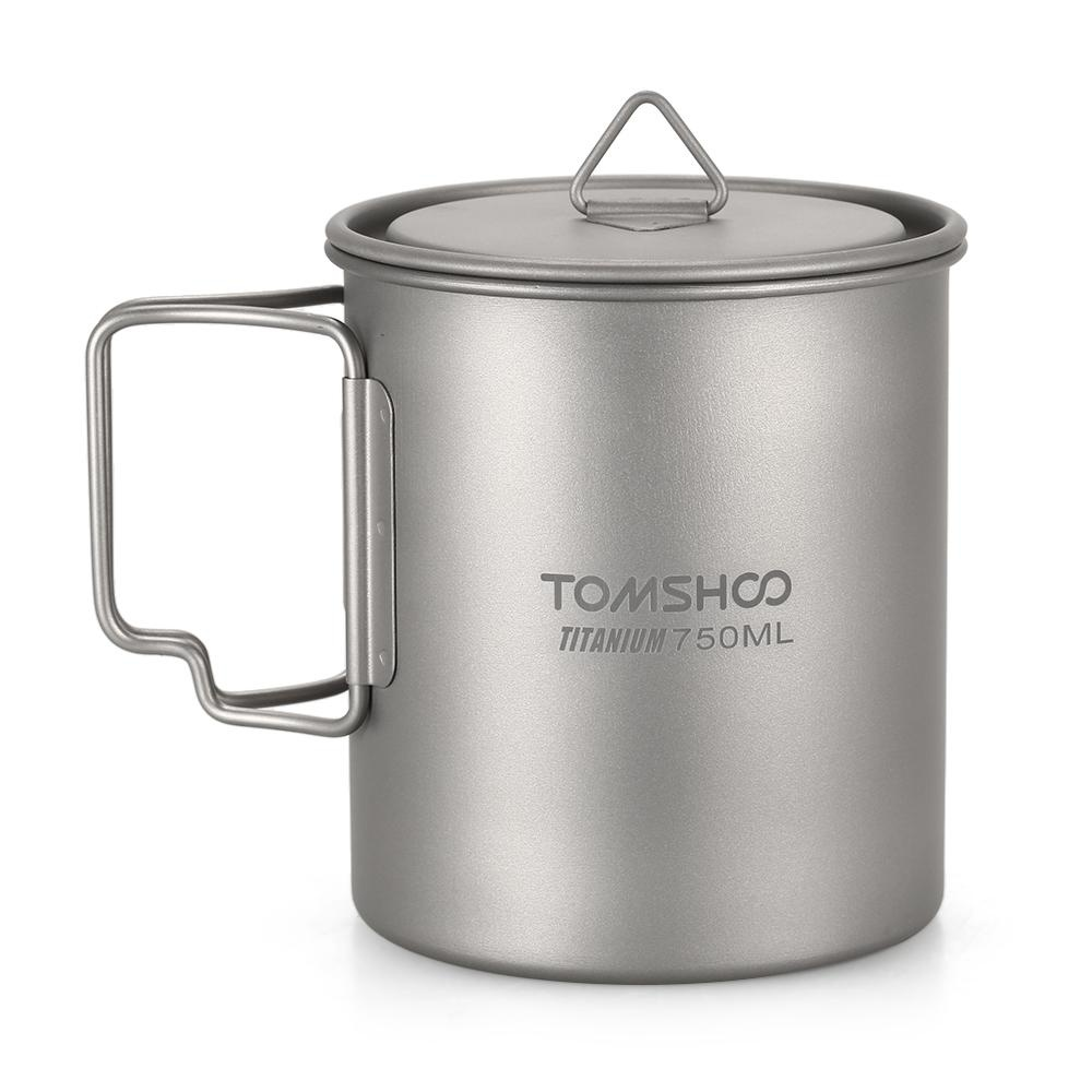 Spesifikasi Tomshoo Ultralight 750 Ml Titanium Cup Outdoor Portable Camping Piknik Mug Piala Air Dengan Foldable Handle Intl Yg Baik