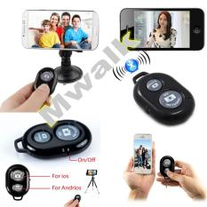 Tomsis Remote Shutter Bluetooth Camera Android & iOS - Hitam