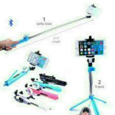 Tongsis 3 in 1 + Bluetoth Selfie Stick + Remote Shutter