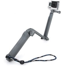 Review Tongsis 3 Way Multi Function Foldable Tripod Monopod For Xiaomi Yi Camera Gopro Hero Gray Tongsis Di Indonesia