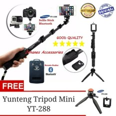 Tongsis Bluetooth Yunteng Yt-1288 Plus Tripod dan remote Bluetooth shutter PAKET SELFIE