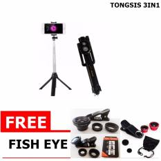 Tongsis Multi Function Build In Tripod Selfie Stick With Bluetooth Extendable Folding Stick for Iphone Smartphone
