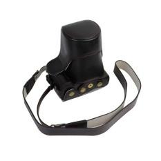 Kulit PU Paling Bagus Tas Wadah Kamera Penutup dengan Bahu Strapforcanoneos M3 Hitam (Kamera Tidak Termasuk) (Hitam) (Luar Negeri) -Intl