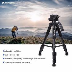 Kualitas Terbaik Zomei Q111 56 Inch Ringan Aluminium Tripod dengan Tas Tersedia Dalam Warna Hitam,