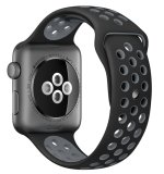 Top4Cus Asli 1 1 Seri 2 Silicone Pasir Untuk Apple Nike Iwatch Penggantian Lembut Sport Band Untuk Apple Watch Iwatch Hitam Cool Grey Kecil Medium 42Mm Intl Tiongkok