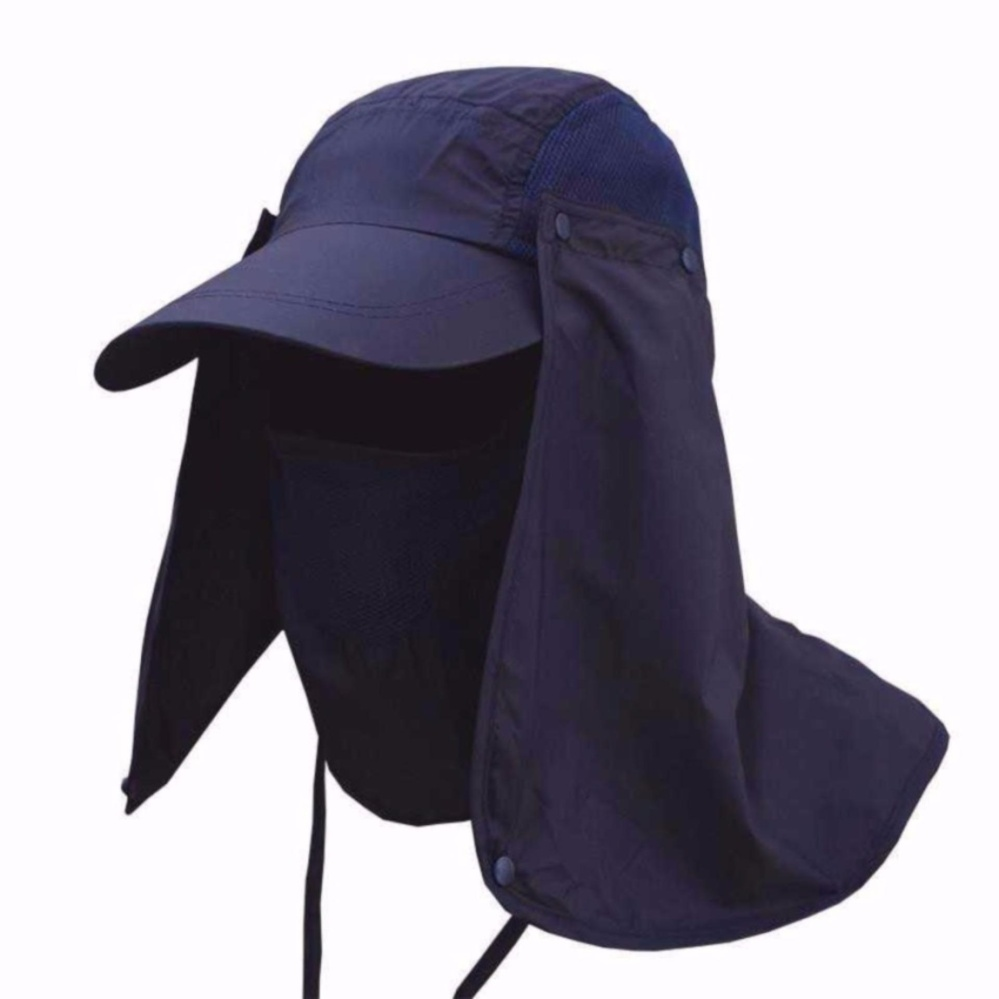 Spesifikasi Topi Anti Uv Matahari Pelindung Muka Wajah S2015 Blue Navy No Brand