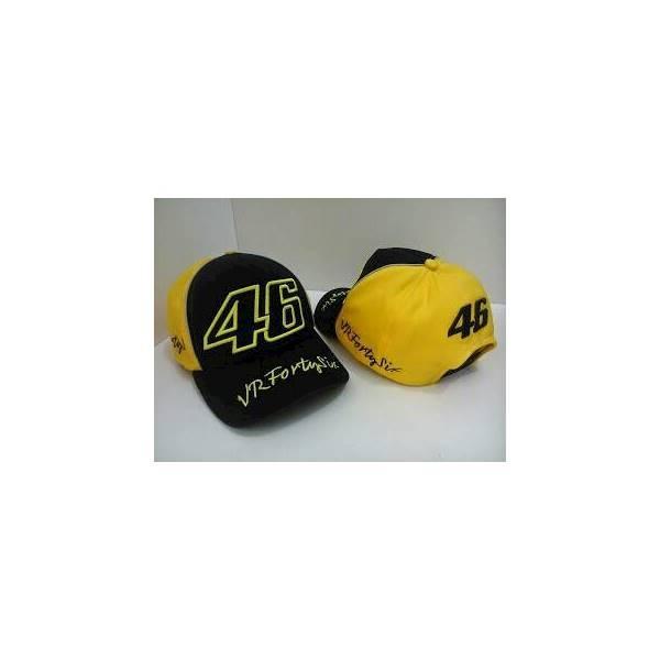 Topi Motogp 46 Vrfourtysix Hitam Valentino Rossi Kombinasi Kuning - Rbb95k