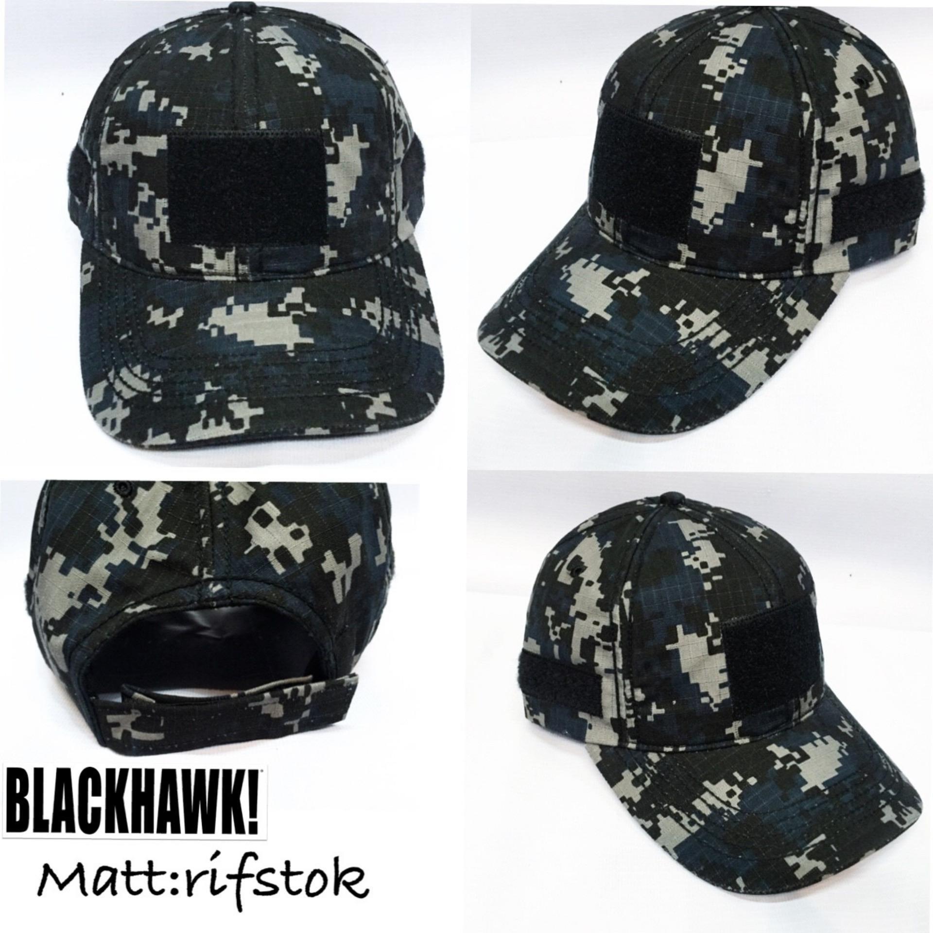 Topi Pria & Wanita Tactical BlackHawk - Black Army