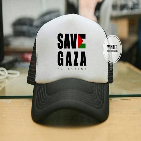 Jual Topi Trucker Jaring Jaring Save Gaza Palestine Putih Hitam Multi Asli