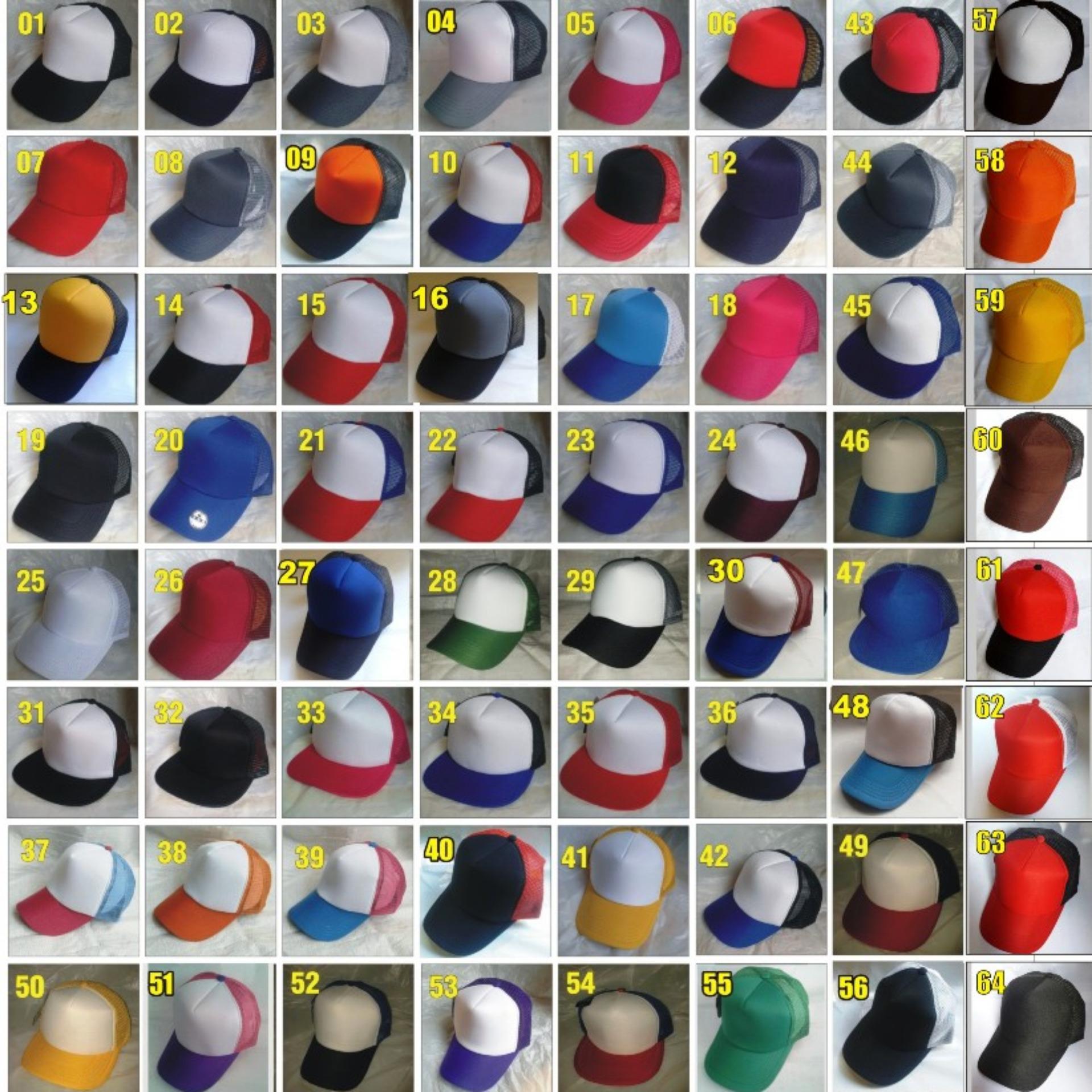 Topi Trucker Polos / Topi Polos / Topi Jaring / Topi Murah / Grosir Topi / Topi Basball / Topi Adidas / Topi Jaring / Dristributor Topi