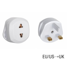 Toprank EU to UK Plug AC Power Adapter Socket 3 pin Travel Converter - intl