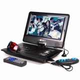 Jual Tori Dvd Portable Led 10 3D Tv Game Portable Dvd Player Hitam Import