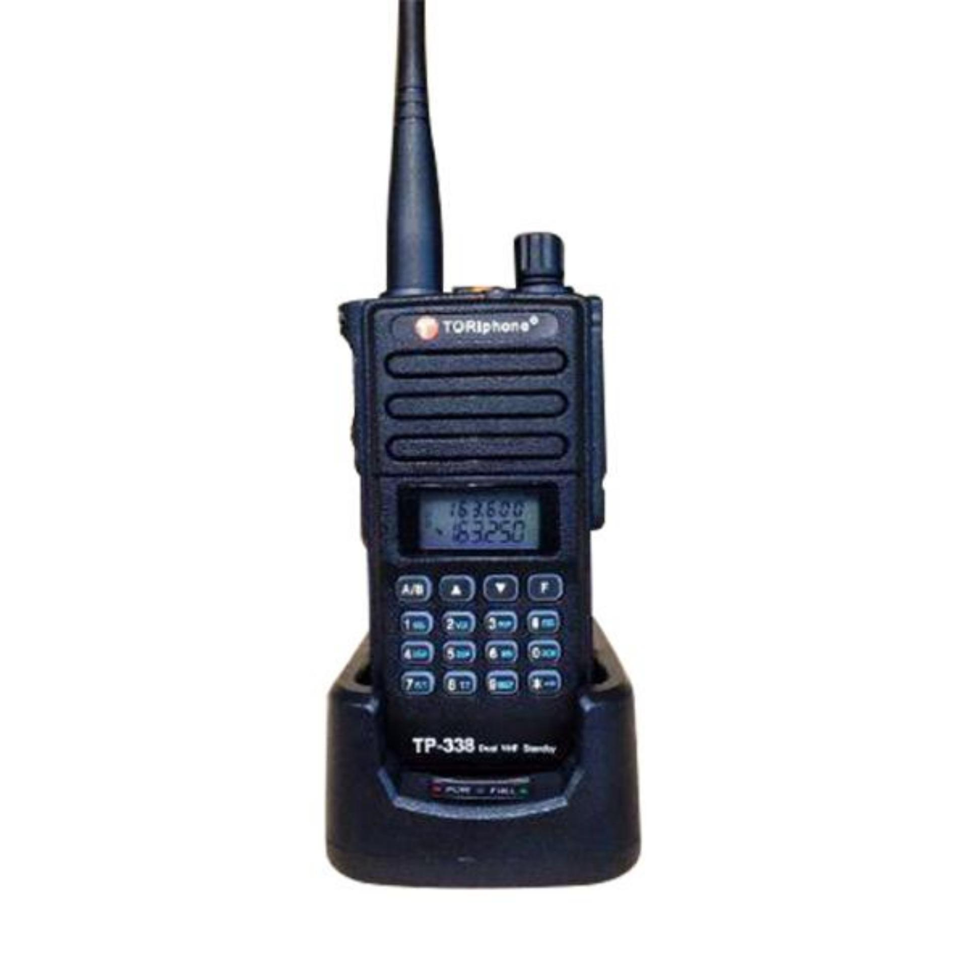 Tori HT handy talkie dual vhf TP 338DS (garansi resmi tori) hitam